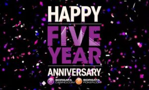 BorgataCasino.com celebrates their 5th Anniversary with a Social Sweepstakes.